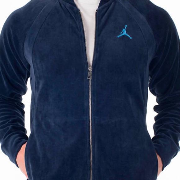 143d2367430bb6 🆕Jordan Velour Full Zip 🚹Crewneck Jacket